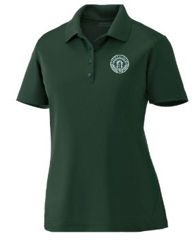 Adult Women's Forest Green Performance Short Sleeve Polo