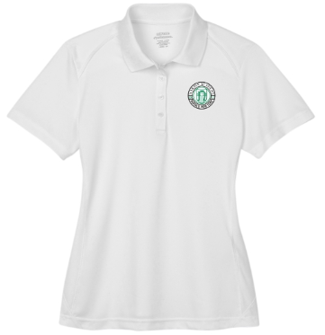 Adult Women's White Performance Short Sleeve Polo