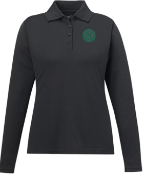 Adult Women's Carbon  Long Sleeve Polo