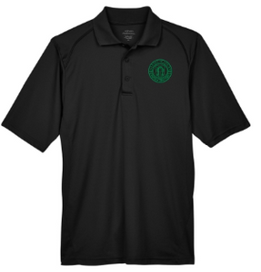 Adult Men's Black Performance Short Sleeve Polo