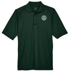 Adult Men's Forest Green Performance Short Sleeve Polo