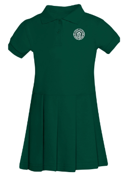 Girls' Green Polo Dress