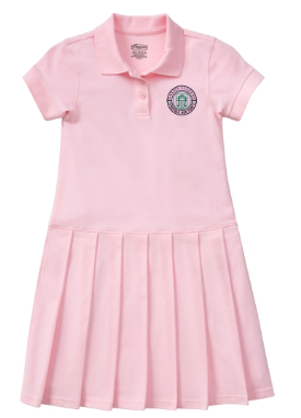Girls' Pink Polo Dress