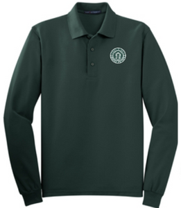 Adult Men's Dark Green Long Sleeve Polo