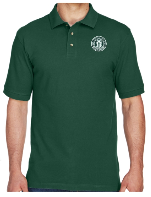 Adult Men's Hunter Green Cotton Short Sleeve Polo