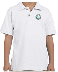 Youth White Cotton Short Sleeve Polo