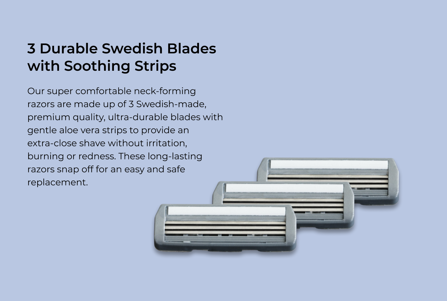 lvl shave co neck shaver durable swedish blades