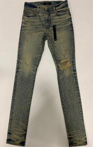 AMIRI Blue Ripped Jeans