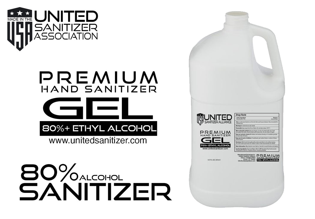 1 Gallon GEL (80% ethyl alcohol) Hand Sanitizer