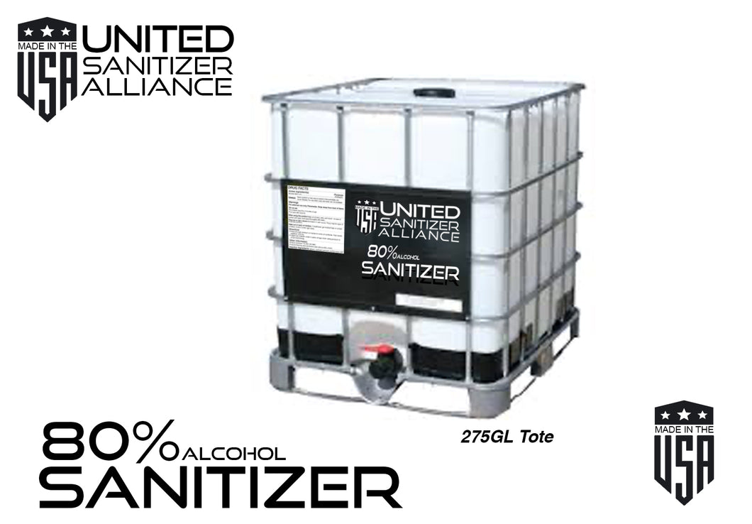 265 Gallon Liquid (80% ethyl alcohol) Hand & Surface Sanitizer
