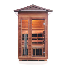 Load image into Gallery viewer, Enlighten RUSTIC - 2 Person<br>Slope Full Spectrum Infrared Sauna - Kaso Saunas