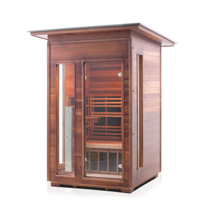 Enlighten RUSTIC - 2 Person<br>Slope Full Spectrum Infrared Sauna - Kaso Saunas