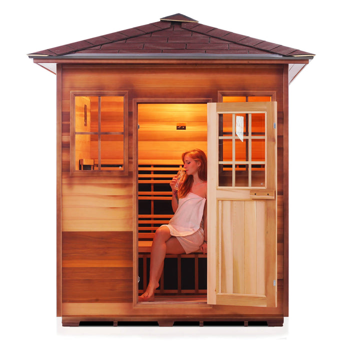Enlighten SIERRA - 4 Person<br>Full Spectrum Infrared Peak Sauna - Kaso Saunas