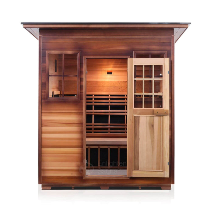 Enlighten SIERRA - 4 Person<br>Full Spectrum Infrared Slope Sauna - Kaso Saunas