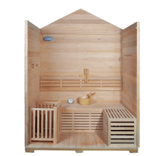 Load image into Gallery viewer, 4 Person Canadian Red Cedar Wood Outdoor and Indoor Wet Dry Sauna with 4.5 kW ETL Electrical Heater - Kaso Saunas