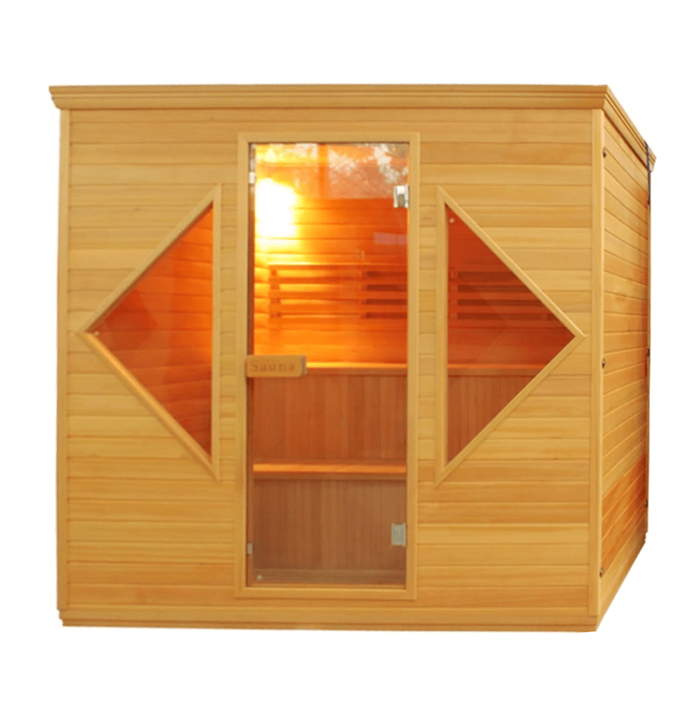 4-5 Person Canadian Red Cedar Wood Indoor Wet Dry Sauna with 4.5 kW ETL Electrical Heater - Kaso Saunas