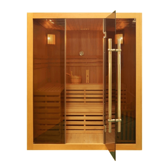 Canadian Hemlock Indoor Wet Dry Sauna - 4.5 kW ETL Certified Heater - 4 Person - Kaso Saunas
