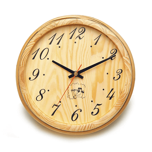 Handcrafted Analog Clock in Finnish Pine Wood - Kaso Saunas
