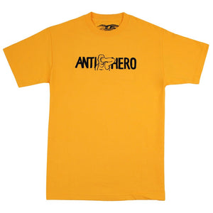 Anti-Hero Face Punch Tee Gold XL