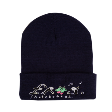 Frog Happy Dirty Beanie - Navy