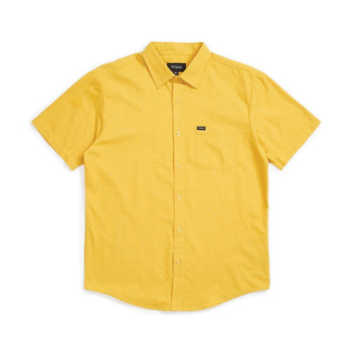 Brixton Charter Oxford Short Sleeve - Sunset Yellow