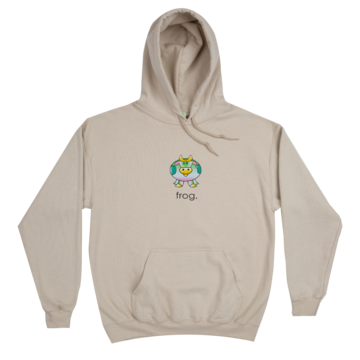 Frog The Cow Hoodie - Stone