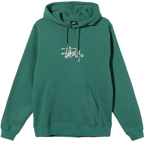 Stussy Copyright Stock Embroidered Hoodie - Dark Green