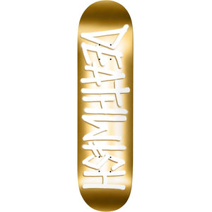 Deathwish Deathspray Gold/White Deck - 8.25