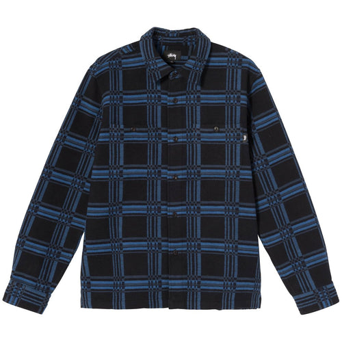 Stussy Langley Plaid LS Shirt - Navy