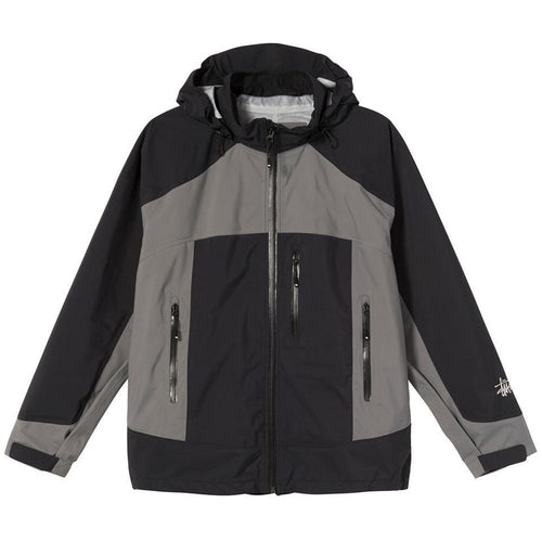 Stussy Taped Seam Rain Shell - Black
