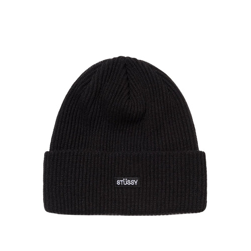 Stussy Small Patch Watch Cap Beanie - Black