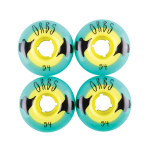 Welcome Orbs 54 Poltergeist 104A Solid Core Teal/Yellow