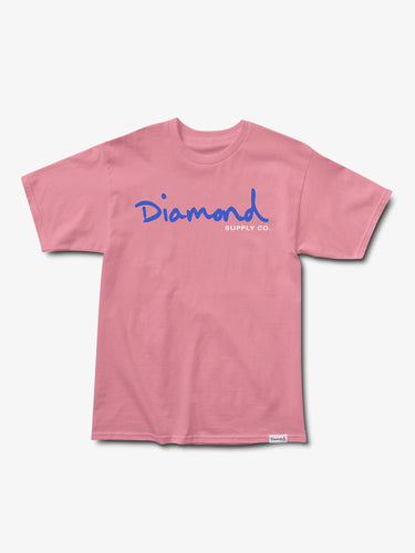 Diamond OG Script Overdyed Tee - Pink