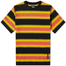 Load image into Gallery viewer, Stussy Multi Stripe Crew - Black