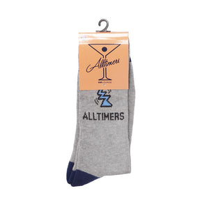 Alltimers Action Logo Socks - Grey/Navy