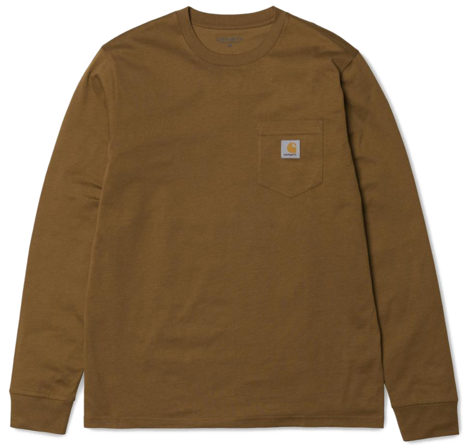 Carhartt WIP Pocket Longlseeve - Hamilton Brown