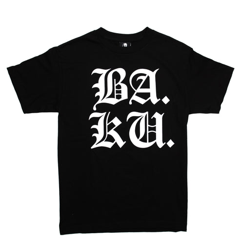 BA.KU. Stacked English T-Shirt - Black