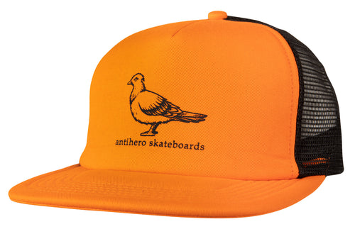 Antihero Basic Pigeon Trucker Hat - Orange/Black