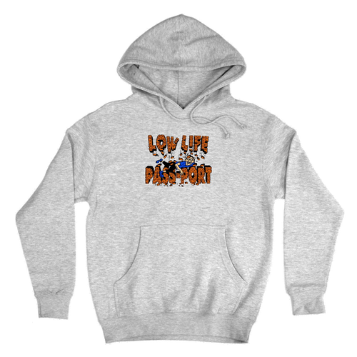 Pass-Port Low Life Brick Hoodie - Heather Grey