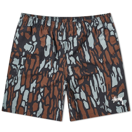 Stussy Tree Bark Water Short - Brown