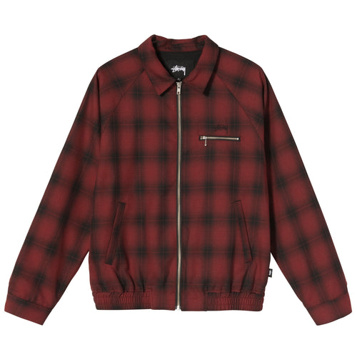 Stussy Shadow Plaid Bryan Jacket - Red