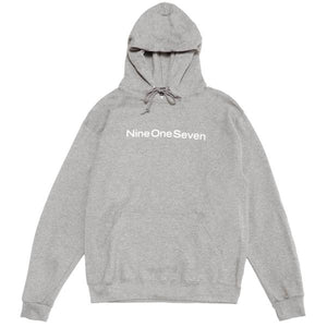 Call Me 917 Logotype Pullover Hood - Heather Grey