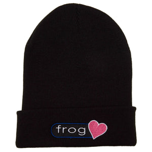 Frog Perfect Heart Beanie - Black