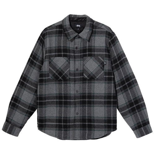 Stussy Max Plaid Quilted Shirt - Grey