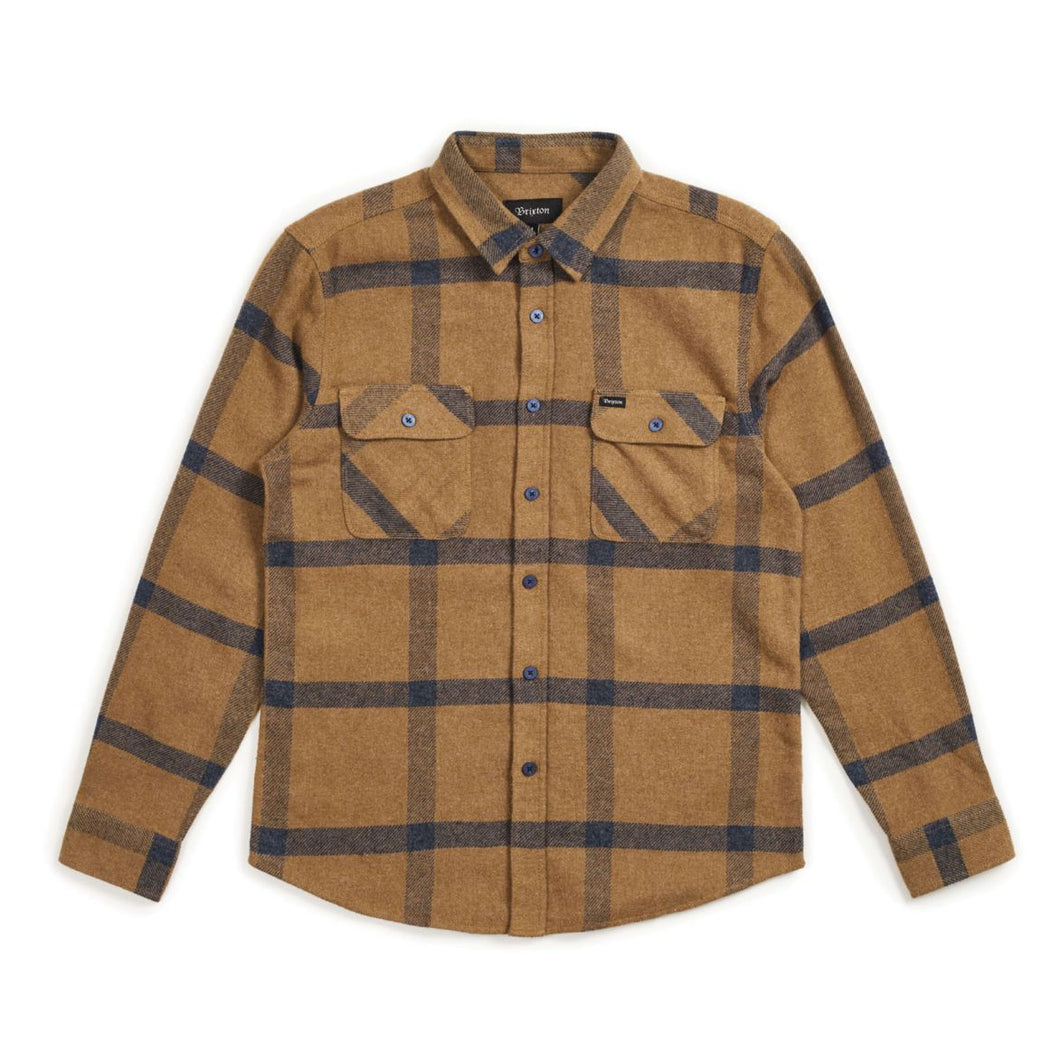 Brixton Bowery Flannel - Gold/Navy