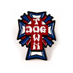Dogtown US Logo Cross Enamel Pin
