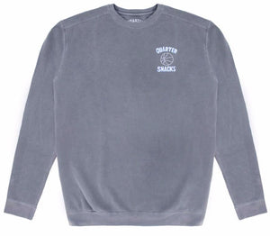Quartersnacks Ball Is Life Crewneck - Washed Grey