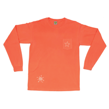 Load image into Gallery viewer, Frog PopStar Pocket Longsleeve - Neon Red Orange