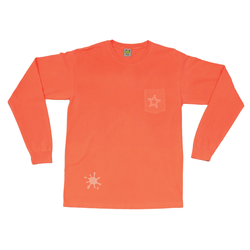 Frog PopStar Pocket Longsleeve - Neon Red Orange