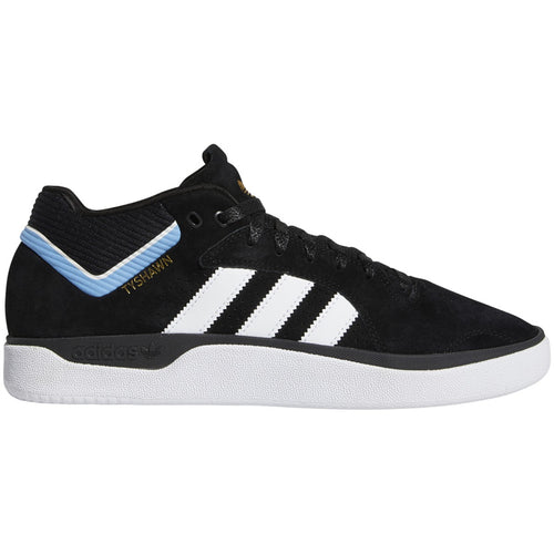 Adidas Tyshawn - Core Black/White/Light Blue